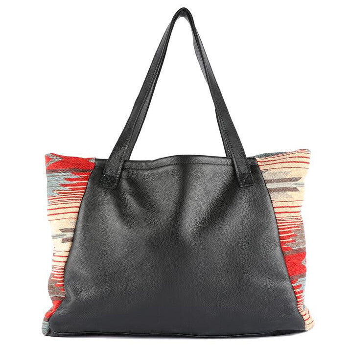 Katama Tosh Tote in Black Leather