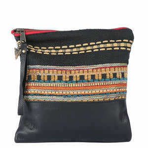 Ponderosa Clutch in Black Leather