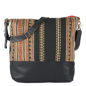 Large Messenger Ponderosa in Black Leather