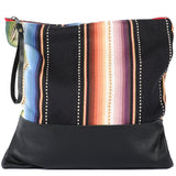 Rio Grande Large Clutch in Black Leather