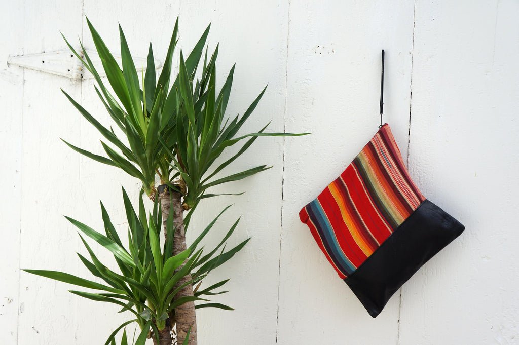 Rosarito Large Clutch in Black Leather
