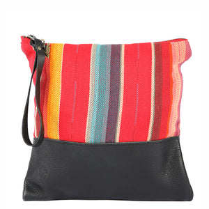 Rosarito Clutch in Black Leather