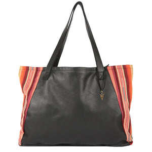 Rosarito Tosh Tote in Black Leather