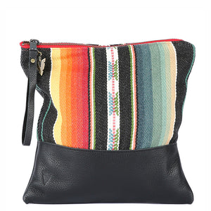 Santa Fe Clutch in Black Leather