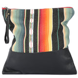 Santa Fe Signature Clutch Large in Black Leather
