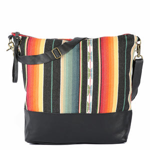 Large Messenger Santa Fe in Black Leather