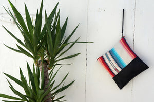 Tulum Clutch in Black Leather