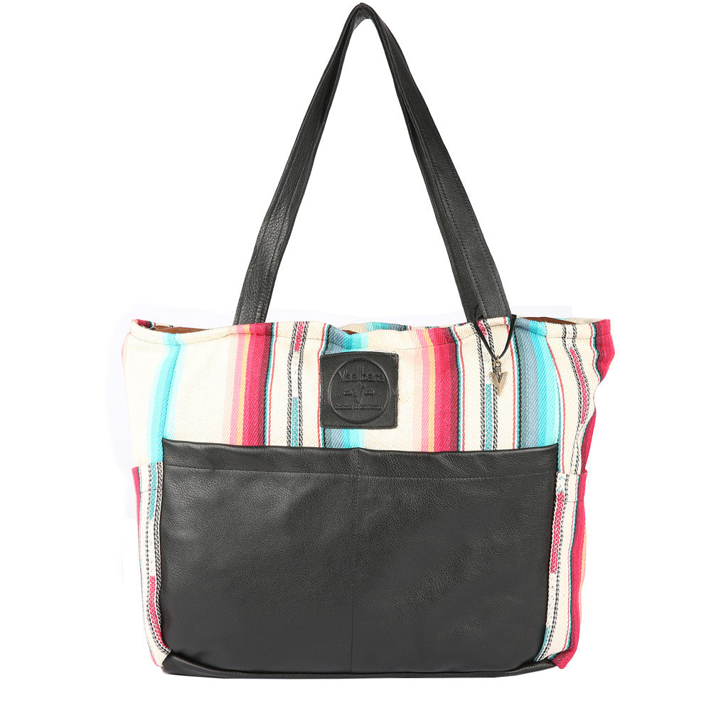 Tulum Diaper Bag in Black Leather