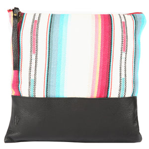Tulum Large Clutch in Black Leather
