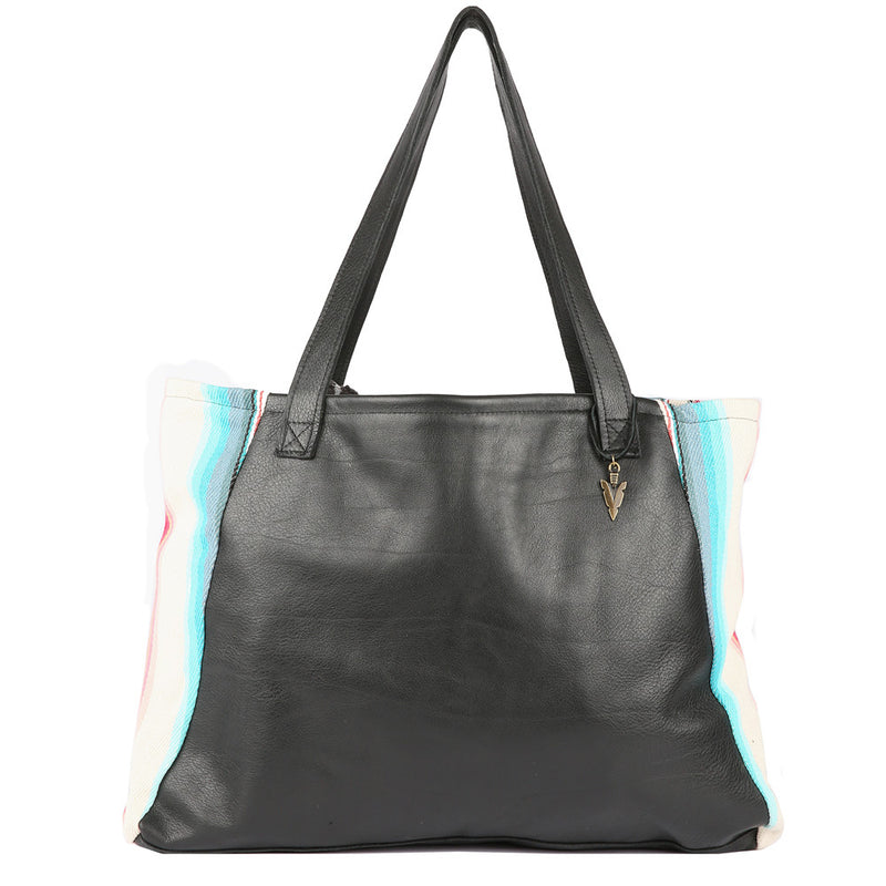 Tulum Tosh Tote in Black Leather