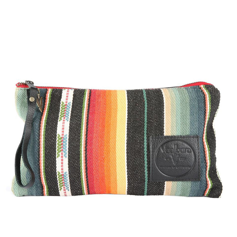 Santa Fe Long Clutch  in Black Leather
