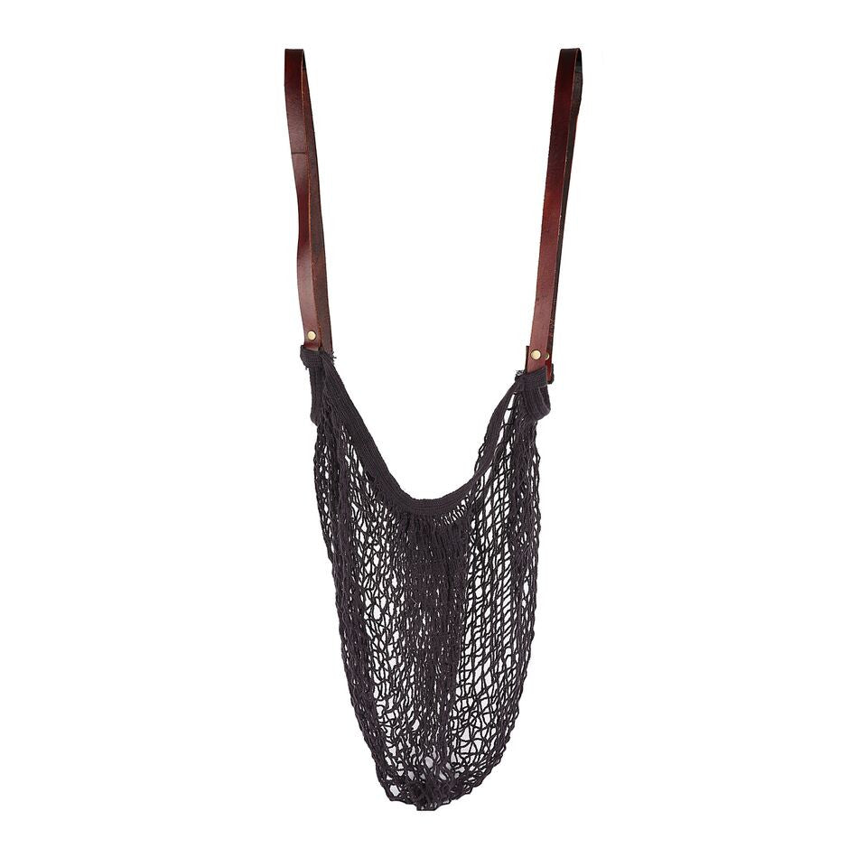 Farmers Market Bag Long Handle Black
