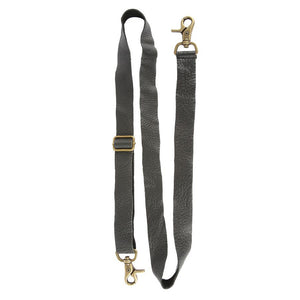Adjustable Messenger Strap Black Leather