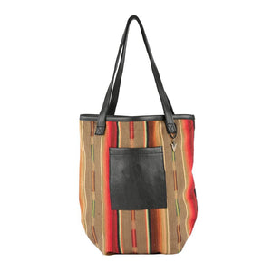 Taylor Tote Bag Dorado in Black Leather