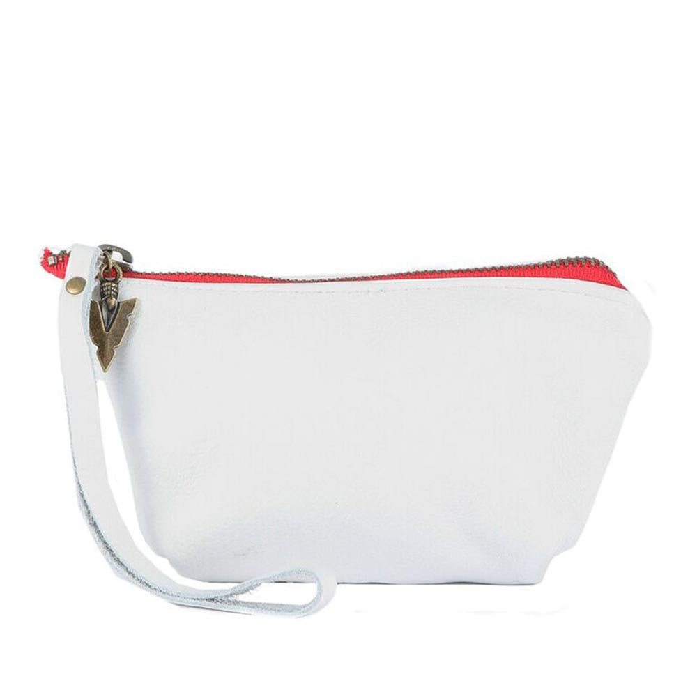 Chloe Pouch in White Leather
