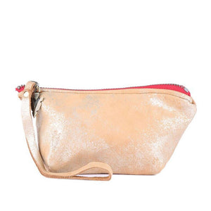 Chloe Pouch in Gold Leather