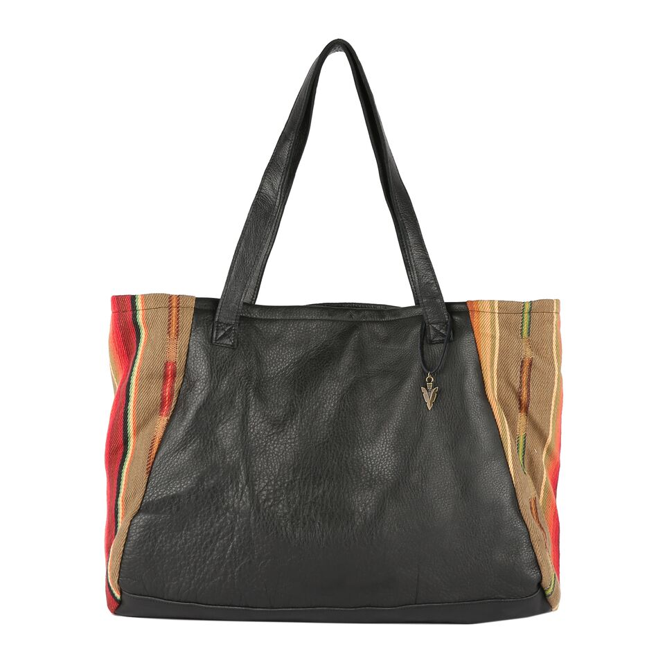 Dorado Tosh Tote in Black Leather