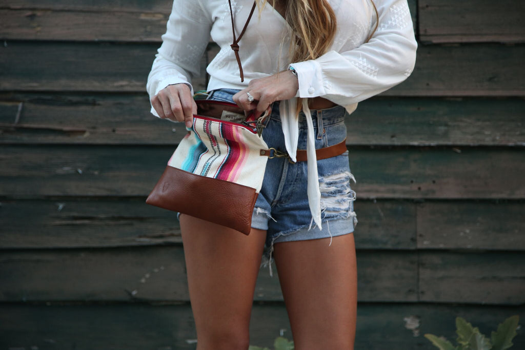 Fanny Pack Adjustable Strap Brown Leather