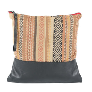 Indira Large Clutch in Black Leather