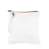 Medium Clutch in White Leather