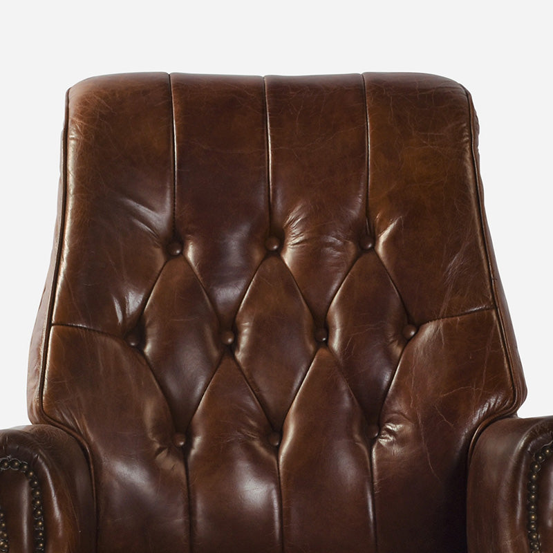 Columbus Desk Chair in Aged Leather 1
