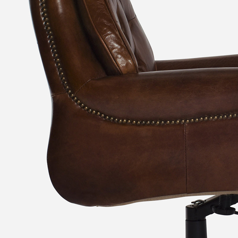 Columbus Desk Chair in Aged Leather 3