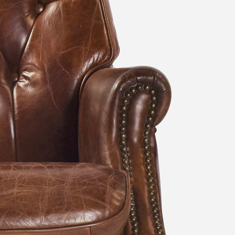 Columbus Desk Chair in Aged Leather 5