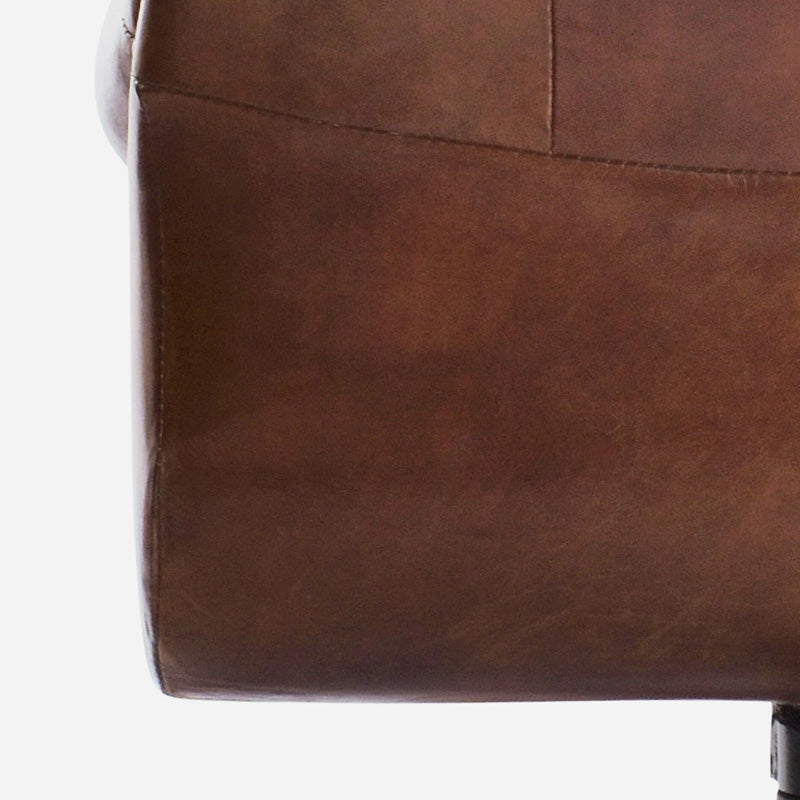 Columbus Desk Chair in Aged Leather 6