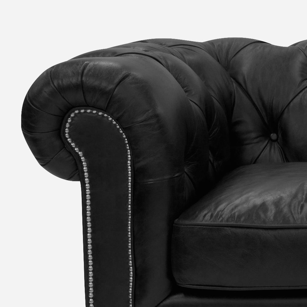 Old Bailey Leather sofa Rolled Arms
