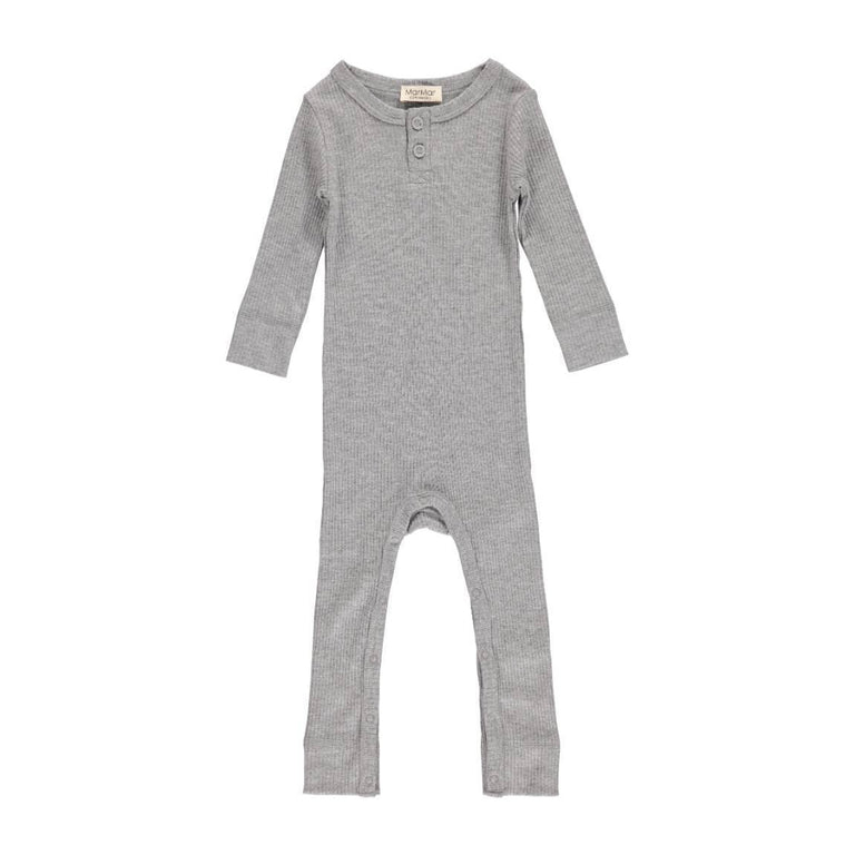 Grey Melange Modal Ribbed Coverall