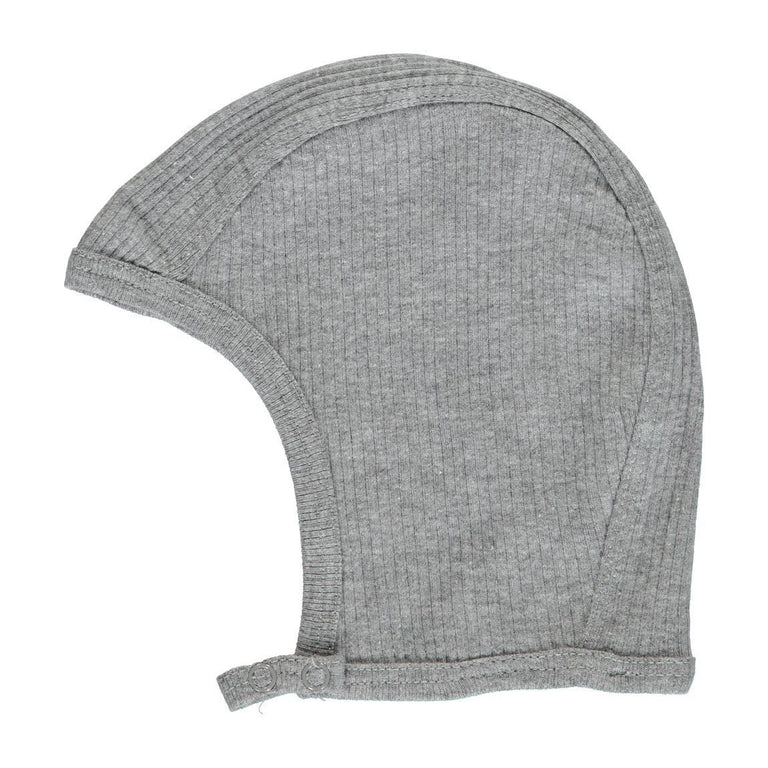 Grey Melange Modal Ribbed Bonnet