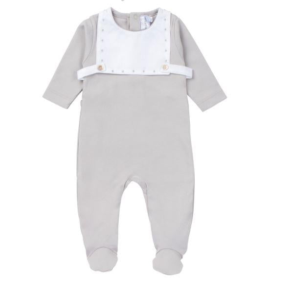 New Grey Cotton With Overlay Footie