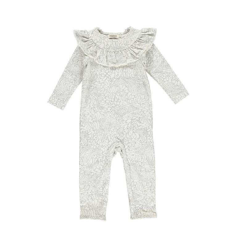 Breeze Gentle White Cotton Romper