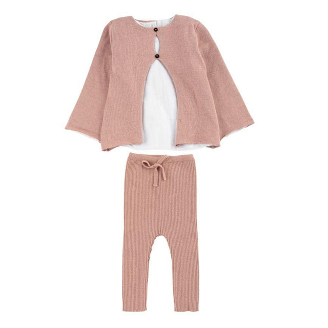 Pink Shirt Knit 2 Piece Set