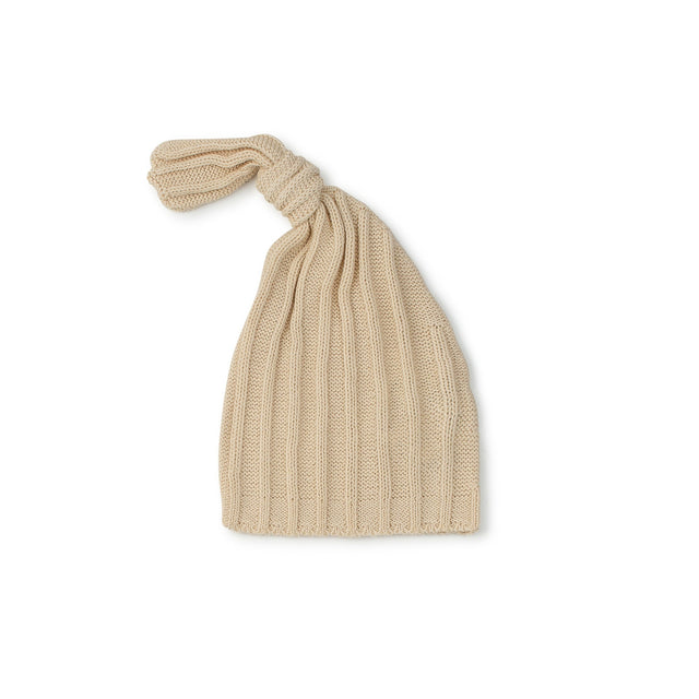 Natural Ribbed Knot Hat