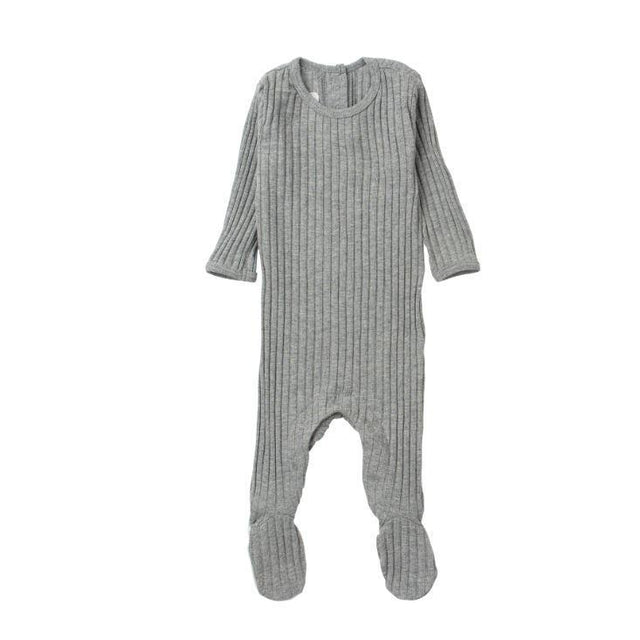 Grey Ribbed Footie
