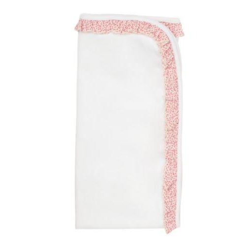 White Floral Cotton Blanket