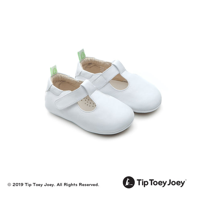 White Strappy Leather Baby Shoes