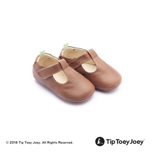 Whisky Beige Strappy Leather Baby Shoes