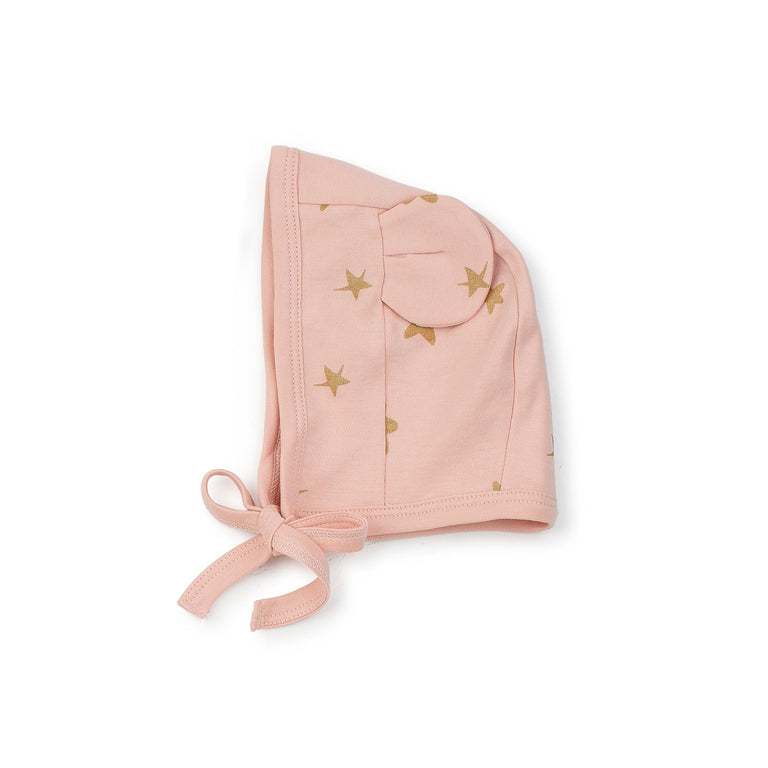 Pink Gold Stars Bear Hat