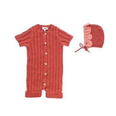 Rust Ribbed Everyday Romper