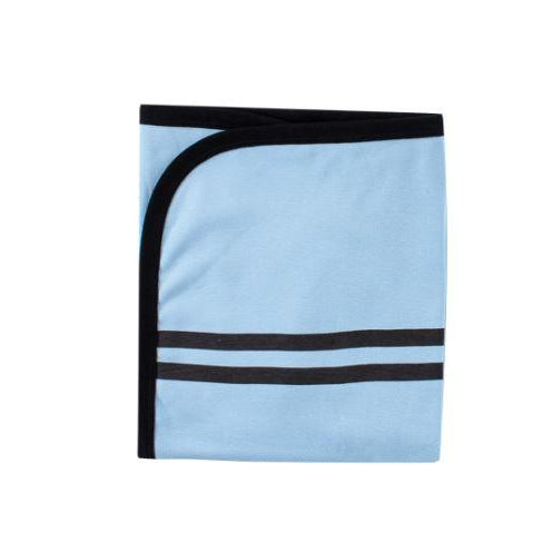 Blue Striped Cotton Blanket