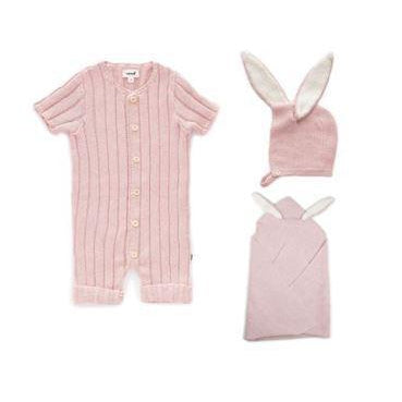 Light Pink Everyday Ribbed Romper