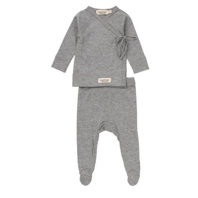 Grey Melange Tut Wrap Modal 2 Piece Set
