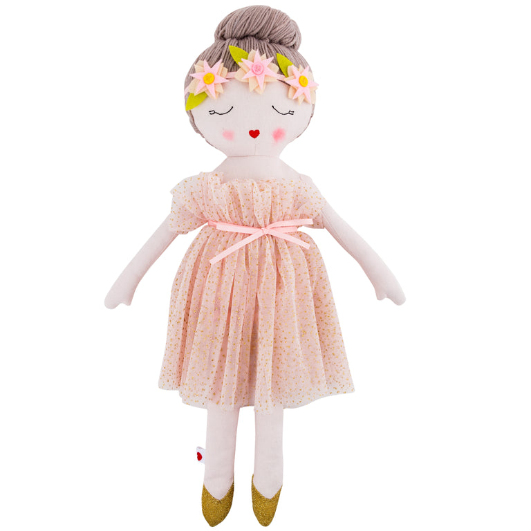 Plush Ballerina Rag Doll