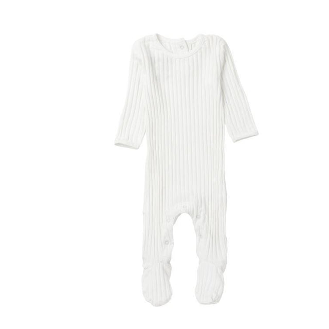 Ivory Ribbed Footie