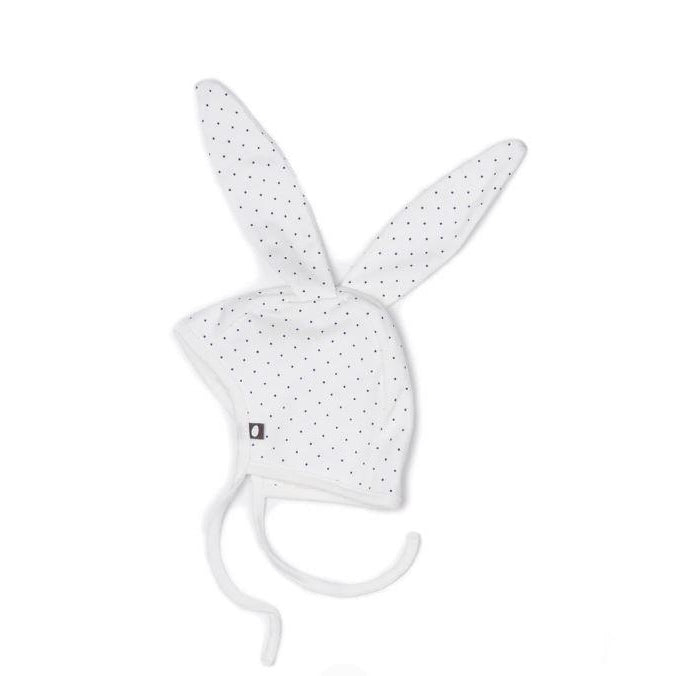Indigo Dots Cotton Bunny Hat