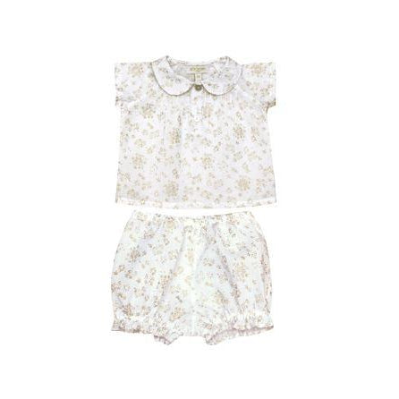 Heloise & Pia Gold Floral Print Set