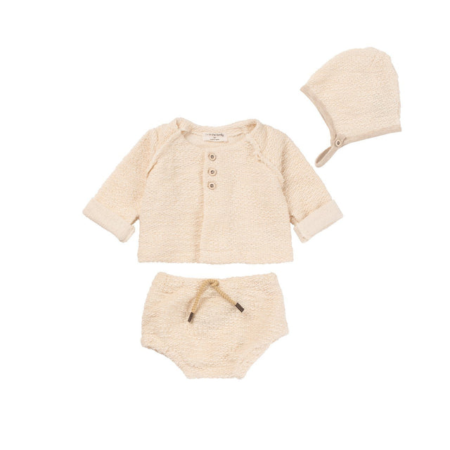 Natural 3 Piece Layette Set