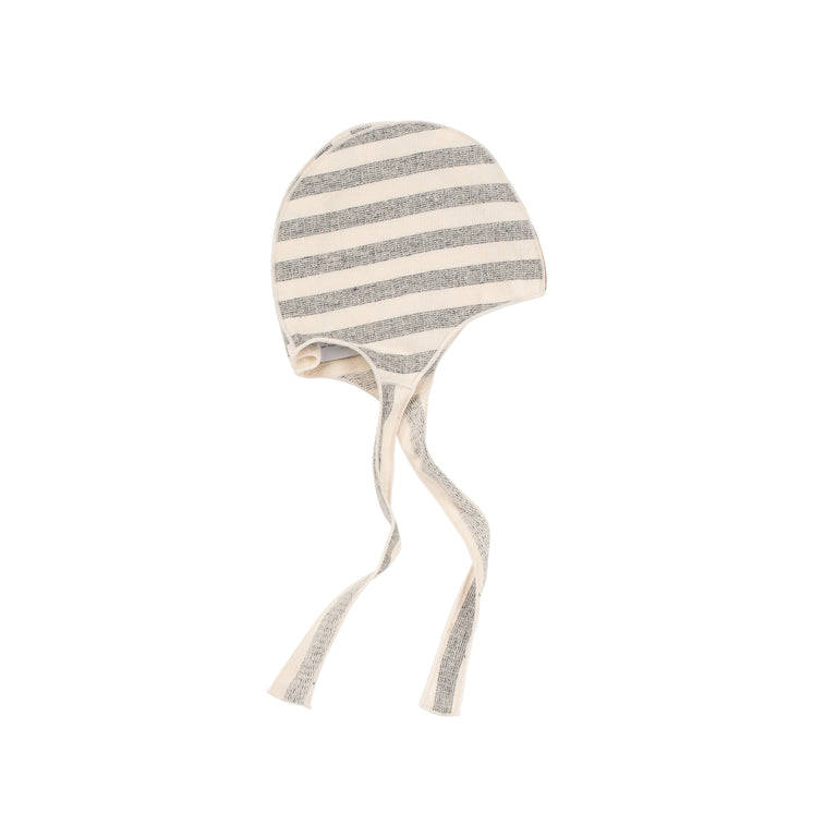 Cream Striped Terry Elmo Hat